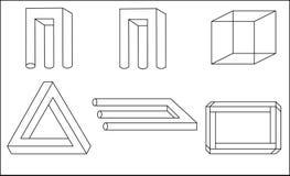 iluzja geometrycznego Obraz Stock