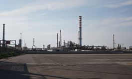 Ilva钢铁厂在塔兰托,意大利 库存照片