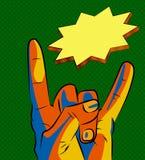 ILY-teken iconsolated De vector van de het symboolvoorraad van handgebaren Royalty-vrije Stock Afbeeldingen