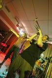 Ilya Fligeltaub - trombeta, no perfo da faixa de Alai Oli Imagem de Stock Royalty Free