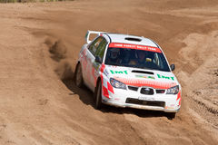 Ilya Hohlov drives a Subaru Impreza Royalty Free Stock Photography