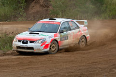 Ilya Hohlov drives a Subaru Impreza Stock Photo