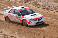 Ilya Hohlov drives a Subaru Impreza  car Royalty Free Stock Image