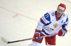 Ilya Kovalchuk. In Russsian national ice hockey team jersey, taking part in a World cup game 2012 Stock Images