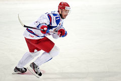Ilya Kovalchuk. In Russsian national ice hockey team jersey, taking part in a World cup game 2012 Stock Photo