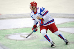 Ilya Kovalchuk. In Russsian national ice hockey team jersey, taking part in a World cup game against Germany 2012 Royalty Free Stock Photography