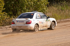 Ilya Semenov drives a Subaru Stock Images