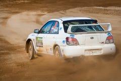 Ilya Semenov drives a Subaru Impreza Royalty Free Stock Photo