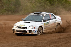 Ilya Semenov drives a Subaru Impreza Stock Images
