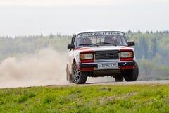 Ilya Voronov drives a Lada  car Stock Photo