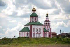 Ilyinskaya-Kirche in der Stadt von Suzdal, Russland Stockbilder