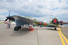 Ilyushin II-2m3 - ataque à terra soviético da segunda guerra mundial no airshow MAKS-2017 Fotografia de Stock