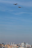 Ilyushin Il-78 и Туполев Tu-160 Стоковые Изображения