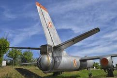 The Ilyushin Il-28 jet bomber. The tail gunner of the Ilyushin Il-28 jet bomber Royalty Free Stock Photo