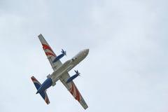 Ilyushin Il-114 kopplar samman - motorturbopropmotorn Fotografering för Bildbyråer