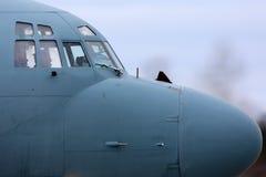 Ilyushin Il-20M RF-93610 reconnaissance airplane taxiing at Kubinka air force base. Stock Photos