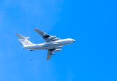 Ilyushin Il-78 (Midas) aerial tanker in parade, Stock Images