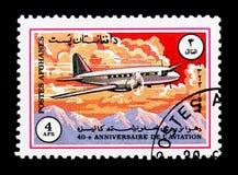Ilyushin Il-12, quarantième anniversaire de serie d'Ariana Airline, vers photo libre de droits