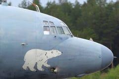 Ilyushin IL-38 09 som ÄR RÖD av den ryska marinen på den Kubinka flygvapengrunden Royaltyfri Foto