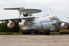 Ilyushin IL-976 76455 special tests aircraft standing at Zhukovsky. ZHUKOVSKY, MOSCOW REGION, RUSSIA - AUGUST 12, 2015: Ilyushin IL-976 76455 special tests Royalty Free Stock Photography