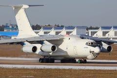 Ilyushin IL-76TD ездя на такси на авиапорте Zhukovsky Стоковое Изображение RF