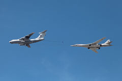 Ilyushin Il-78 and Tupolev Tu-160 Stock Images
