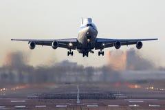 Ilyushin IL-86VKP rf-93642 van Russische Luchtmacht die in Chkalovsky van start gaan Royalty-vrije Stock Afbeelding