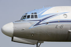 Ilyushin plane IL - 18 side view Royalty Free Stock Image