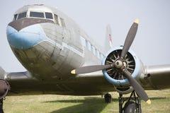 Ilyushin samolot IL - 18 frontowy widok fotografia stock