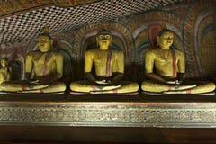Imágenes antiguas de Buddha que se sientan Fotografía de archivo libre de regalías