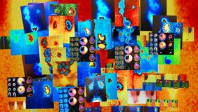 Collage nuclear de la medicina Imágenes de archivo libres de regalías