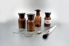Imágenes comunes de los accesorios del laboratorio Foto de archivo