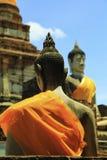 Imágenes de Buda en la ruina foto de archivo