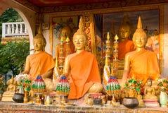 Imágenes de Buddha en Wat ese Luang en Vientiane Imagen de archivo libre de regalías