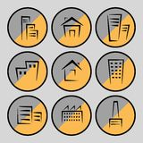 Imágenes de casas y de edificios Foto de archivo libre de regalías