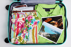 Imágenes de centros turísticos y de la ropa de la playa Fotografía de archivo