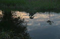 Imágenes de fondo del paisaje de la reflexión del agua fotos de archivo