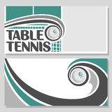 Imágenes de fondo para el texto a propósito de tenis de mesa Fotos de archivo