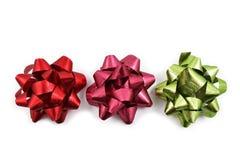 Imágenes de la acción del arco de la Navidad Fotos de archivo libres de regalías
