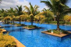 Imágenes de la forma de vida del centro turístico y del balneario de la bahía de Westin Turtal en Mauricio Imagen de archivo