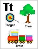 Imágenes de la letra T del alfabeto stock de ilustración