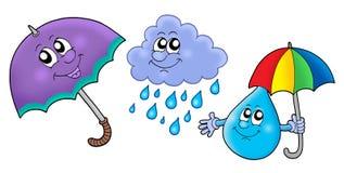 Imágenes de la lluvia del otoño libre illustration
