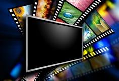 Imágenes de la película de pantalla de película Fotografía de archivo libre de regalías