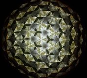Imágenes de la reflexión dentro de la prisma del triángulo Imágenes de archivo libres de regalías