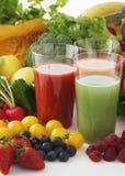 Imágenes de las bebidas frescas de la fruta y verdura foto de archivo libre de regalías