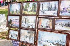 Imágenes de los artistas de la calle Imagen de archivo libre de regalías
