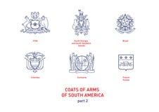 Imágenes de los brazos Suramérica de las capas ilustración del vector