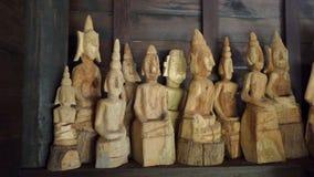 Imágenes de madera de Buda Foto de archivo libre de regalías