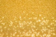 Imágenes de oro festivas de la acción del fondo Fotografía de archivo libre de regalías