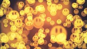 Imágenes de vídeo alegres agradables frescas de descoloramiento de la nueva calidad del fondo de la animación de la sonrisa del f stock de ilustración